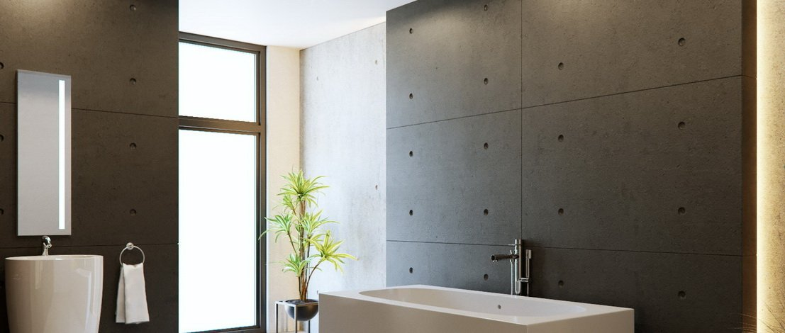 Sichtbeton für Bad und Küche
