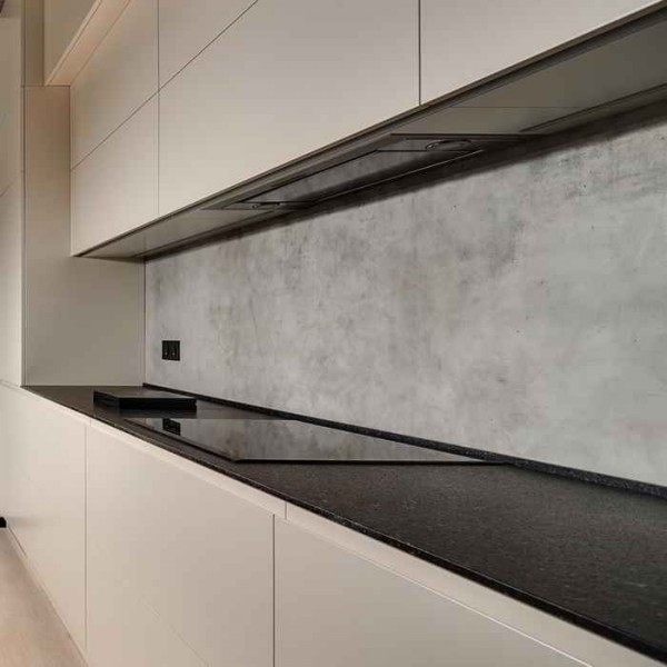Küchenrückwand Beton betongrau patiniert 2,50 x 0,60 m